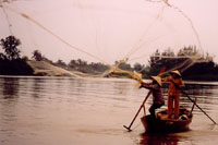 Fishing in the Mekong river